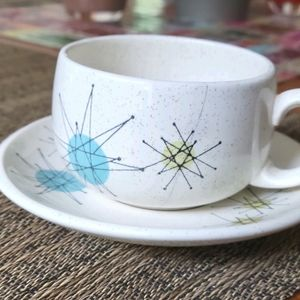 """Franciscan """"Starburst"""" Cup and Saucer (2 of 2)"""
